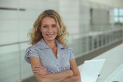 Female office worker Royalty Free Stock Images