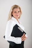 Female office worker with FOLDER Stock Photography