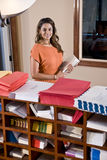 Female office worker, Indian ethnicity Stock Photos