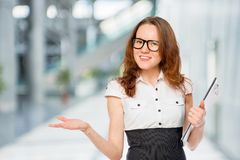 Female office worker successful slim and beautiful Stock Photos