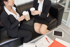 Female Office Workers Eating Chinese stock photo
