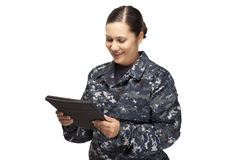 Female officer performing oath Stock Image