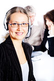 Female operator Royalty Free Stock Photos