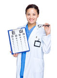Female optician doctor Royalty Free Stock Photography