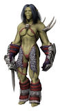 Female orc fighter Stock Photos