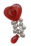 Female ornament-charm in the form of heart Royalty Free Stock Photography