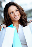 Female out shopping Stock Images