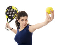 Paddle serve Royalty Free Stock Photos