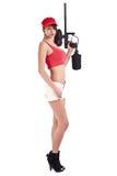 Female paintball player Stock Photos