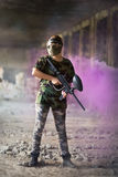 Female paintball player Royalty Free Stock Photos