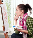 Female Painter Stock Photography