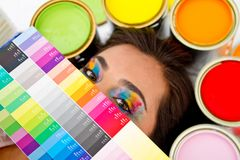Female painter Stock Photos