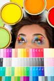 Female painter Royalty Free Stock Images