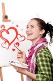 Female painter Stock Image