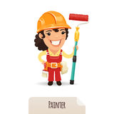 Female Painter Royalty Free Stock Photos