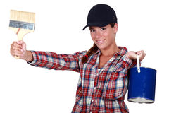 A female painter. Stock Photography