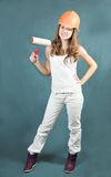 Female painters with paint rollers Stock Photos