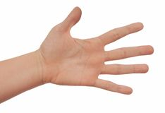 Female palm with spread fingers Stock Photography