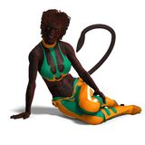 Female panther fantasy creature Royalty Free Stock Photos