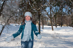 Female in the park Royalty Free Stock Image
