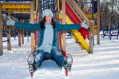female park winter Στοκ Φωτογραφίες
