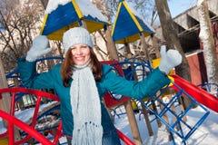 female park winter Στοκ φωτογραφία με δικαίωμα ελεύθερης χρήσης
