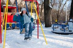 female park winter Στοκ εικόνα με δικαίωμα ελεύθερης χρήσης