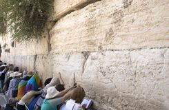Female part of of the Western Wall (The Wailing Wall), Women pray in Jerusalem, Israel, June 15, 2015. royalty free stock image