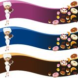 Female pastry background Royalty Free Stock Image