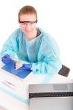 Female pathologist or medical technologist Royalty Free Stock Image