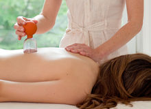 Female patient at the alternative practitioner Royalty Free Stock Photo