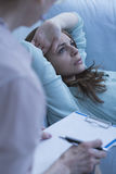 Female patient on the couch Stock Photos