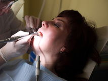 Female patient at the dentist Stock Image