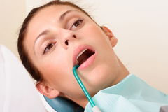 Female patient at the dentist Royalty Free Stock Images