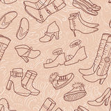 Female pattern with shoes Royalty Free Stock Photo