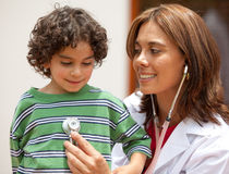Female pediatrician Royalty Free Stock Images