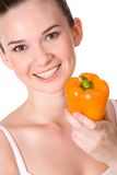 Female with pepper Stock Photography