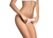 Female perfectly shaped body Royalty Free Stock Photography