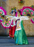 Female performer of traditional Korean dance Stock Photography