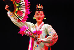 Female performer of traditional Korean dance Royalty Free Stock Image