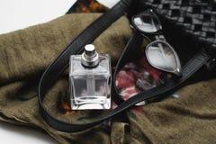 Female perfume with handbag Royalty Free Stock Image