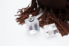 Female perfume with handbag Stock Image