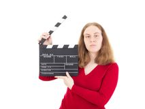 Female person making the next cut Royalty Free Stock Photos