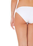 Female person in white panties Stock Photos
