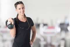 Female Personal Trainer Royalty Free Stock Images