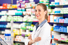 Female pharmacist in her pharmacy Stock Photos