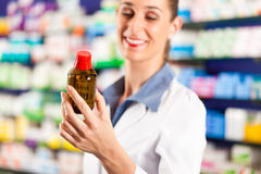 Female pharmacist in her pharmacy Royalty Free Stock Photography