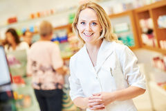 Female pharmacutical chemist portrait royalty free stock photo