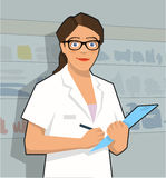 Female pharmacy assistant Royalty Free Stock Photo