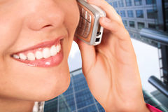 Female on the phone Stock Photography